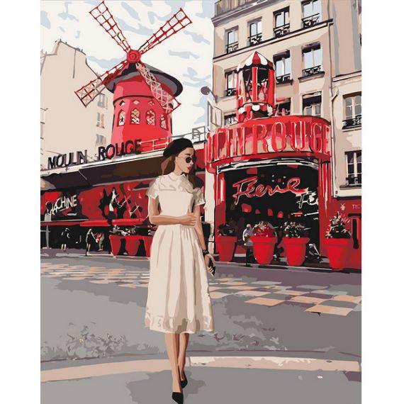 Картина по номерах 40х50см Moulin Rouge