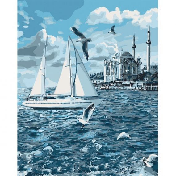 Картина по номерах 40х50см Прогулянка по Босфору