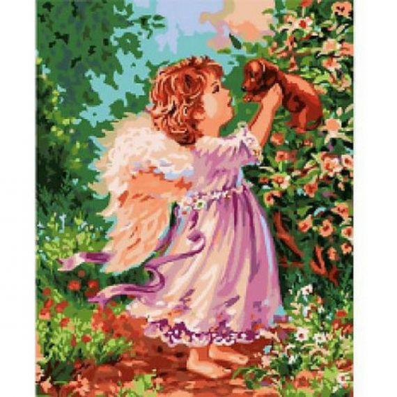 Набір картина з алмазною мозаїкою 40х50см Маленьке щастя