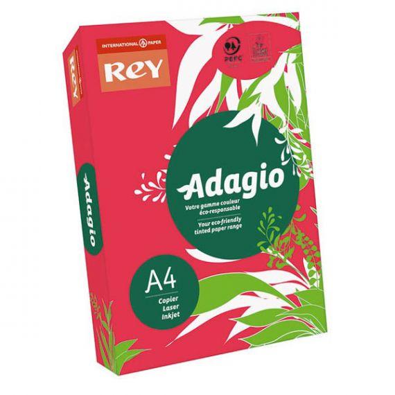 Папір кольоровий А-4 160г 250арк інт/червоний Red Rey Adagio
