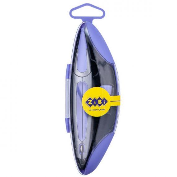 Циркуль 135мм у пластиковому футлярі + грифель фіолетовий ZiBi Start Ergo KIDS Line
