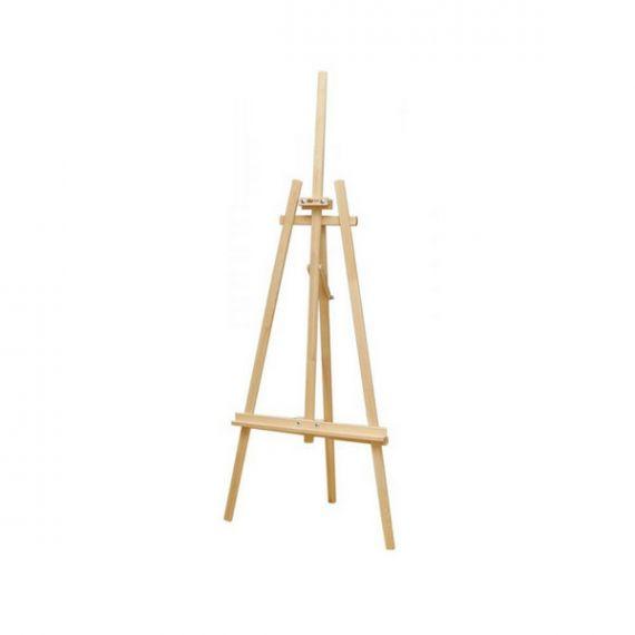 Мольберт стаціонарний Ліра №41А, сосна 71х80х170 макс. висота полотна 124см ROSA Studio