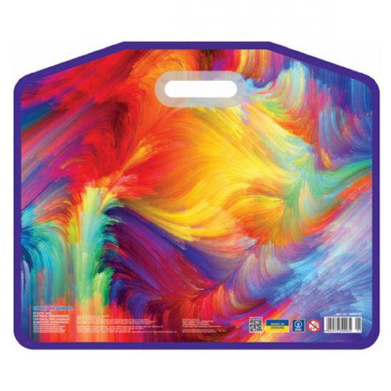 Портфель пластиковий А-3 1від. на липучці, внутр. кишеня, врізні ручки Cool for school Colourful