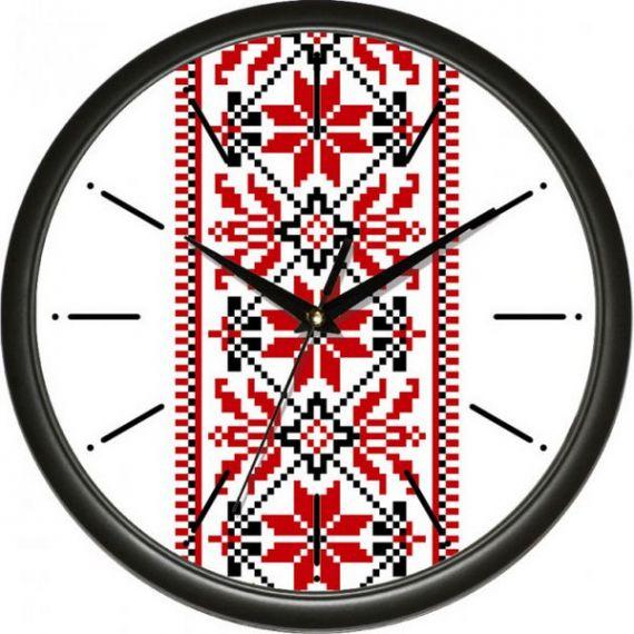 Годинник UTA настінний круглий d30 українська символіка