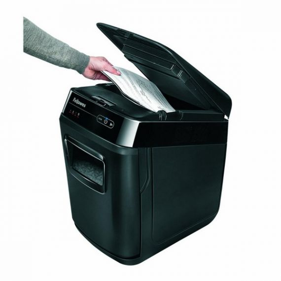 Знищувач паперу 200арк. фрагменти 4х38мм, корзина 32л AutoMax 200C, Fellowes