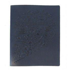 Дневник школьный искуственная кожа синий Magica