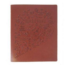 Дневник школьный искусственная кожа Frankfurt коричневый Magica