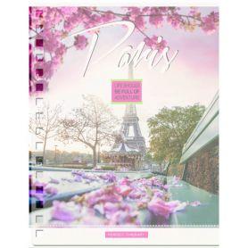 Зошит спіраль А-5 144арк кл з роздільниками кольор, пластік Romantic city YES