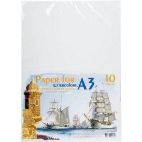 Папір для акварелі А-3 200г 10арк в п/п пакеті