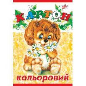 Картон кольоровий А-4 14арк Бріск