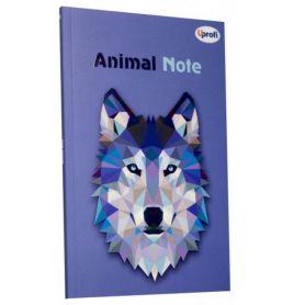 Блокнот А-5 40арк. карт.обкл. склейка Profiplan Animal note violet, клітинка