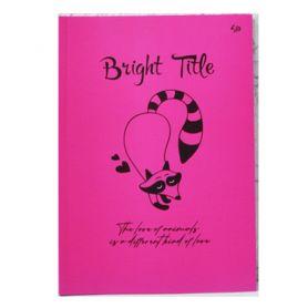 Блокнот А-5 40аркушів рожеві, картонна обкладинка, склейка Profiplan Bright Title note