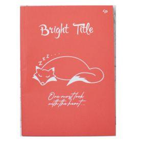 Блокнот А-5 40аркушів помаранчеві, картонна обкладинка, склейка Profiplan Bright Title note