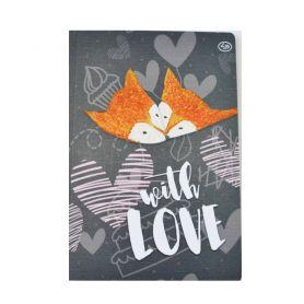 Блокнот А-5 40аркушів кольорові, картонна обкл. склейка Profiplan With love
