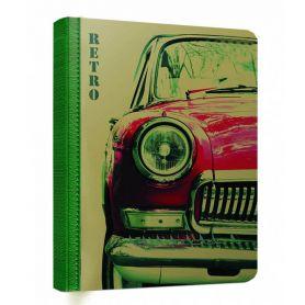 Книга записна  95х135мм.176аркушів тверда обкладинка крафт, кремовий папір, клітинка *Skill