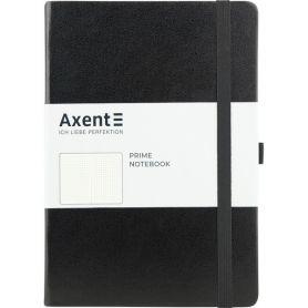 Книга записна на гумці А-5-96арк Partner Soft інтегр.обкл.,сіра,крем.папір,крапки*Axent