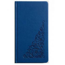 Книга алфавітна 90х170мм. 64аркушів, штучна шкіра, блакитна *Поліграфіст