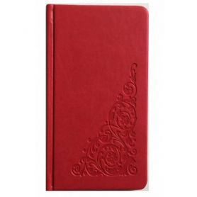 Книга алфавітна 90х170мм. 64аркушів, штучна шкіра, червона *Поліграфіст