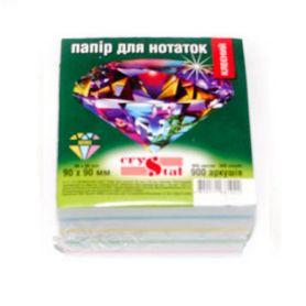 Папір для нотаток 90х90 900арк кольоровий Мікс кл. інд.уп. Crystal