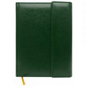 Щоденник на магніті А-5 176арк. шт.шкіра зелений кремовий папір, лін.*П-ст