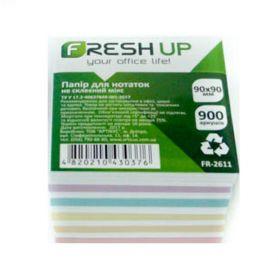 Папір для нотаток 90х90 900арк кольоровий Мікс н/кл.,інд.уп. Fresh