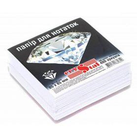Папір для нотаток 85х85 400арк білий кл. Crystal ЕСО