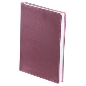 Щоденник Buromax А-5 144арк. Metallic інтегр.обкл., крем.блок, рожевий металік
