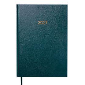 Щоденник датований Buromax Strong тв.обкл., кремовий папір, зелений