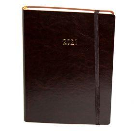 Щоденник датований Поліграфіст А-5 Nebraska на гумці, кремовий папір, коричневий