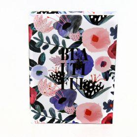 Щоденник датований Поліграфіст А-5 Акварельні квіти, тверда обкладинка ламінація