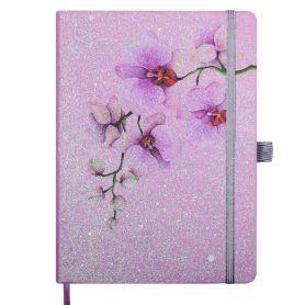 Щоденник датований Buromax Cherie м'яка обкладинка, кремовий папір, рожевий