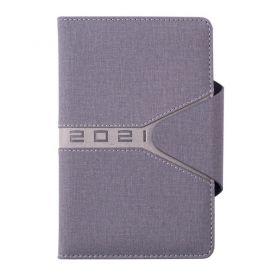 Щоденник датований Buromax кишеньковий Navigator тверда обкладинка, кремовий папір, сірий