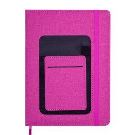 Щоденник датований Buromax Combi тверда обкладинка на гумці, кремовий папір, кишеня