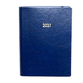 Щоденник датований Поліграфіст А-5 Nebraska на гумці, кремовий папір, синій