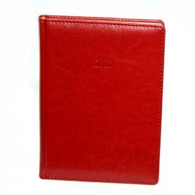 Щоденник датований Поліграфіст А-5 Nebraska на гумці, кремовий папір, червоний