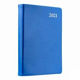 Щоденник датований Leo planner Aldento інтегральна обкладинка, крем.папір, срібні торці, синій