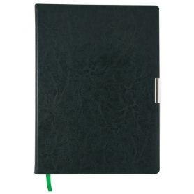 Ежедневник датированный Buromax A-4 Salerno интегральная обложка, кремовая бумага, зеленый