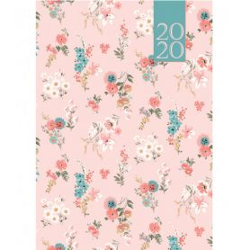 Щоденник датований Buromax Provence, тверда обкладинка, білий папір, квіти на бежевому