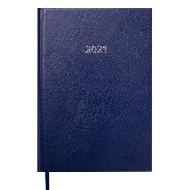 Щоденник датований Buromax Strong тверда обкладинка, кремовий папір, темно-синій