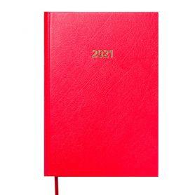 Щоденник датований Buromax Strong тверда обкладинка, кремовий папір, червоний