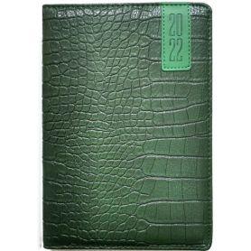 Щоденник датований Bourgeois штучна шкіра, кремовий папір, зелений