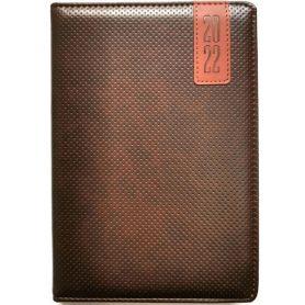 Щоденник датований Bourgeois штучна шкіра, кремовий папір, коричневий