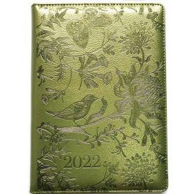Щоденник датований Bourgeois штучна шкіра, кремовий папір, зелений металік