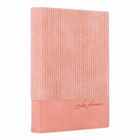 Щоденник Leo planner А-6 176арк. Velvet м'яка обкл., тоновані торці, рожевий