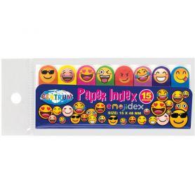 Індекси паперові клейкі 15х48 8кол по 15арк зв смайлами Emojidex Сentrum