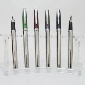 Ручка перова Baixin хром сірий,синій,зелений,бордо
