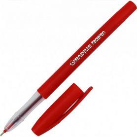 Ручка масляна Radius Face pen пластик, матовий корпус, червона