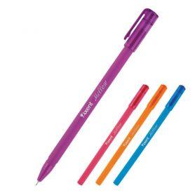 Ручка масляна Axent Mellow прогумований корпус, 0,7мм асорті, синя