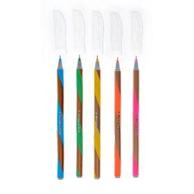 Ручка масляна 1Вересня Goldstar асорті одноразова синя