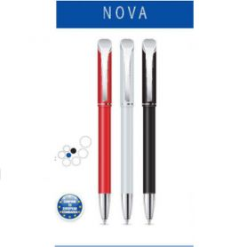 Ручка масляна Digno Nova Red автоматична, металевий корпус, синя